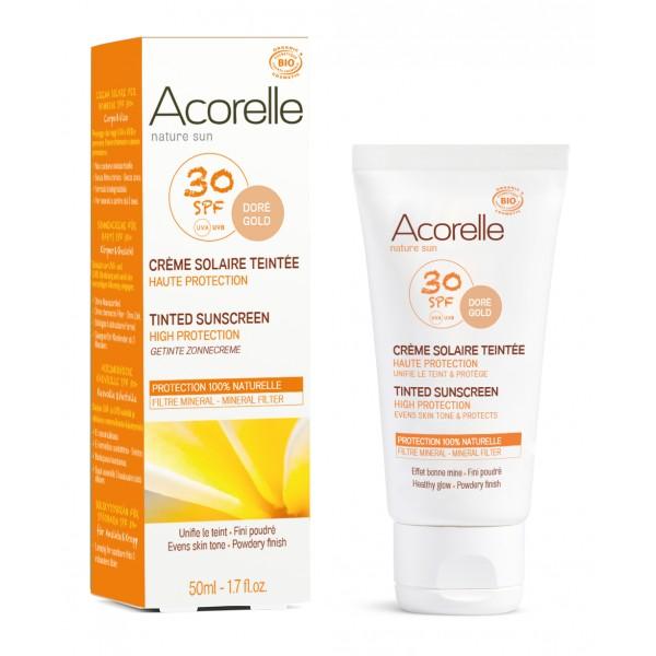 Acorelle Opalovací gel na obličej SPF 30 tónovací 30ml + DOPRAVA ZDARMA po celý rok!