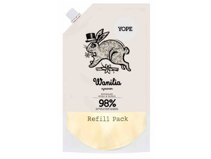 Yope Tekuté kúpeľňové mydlo Škorica   Vanilka náhradná náplň 500 ml