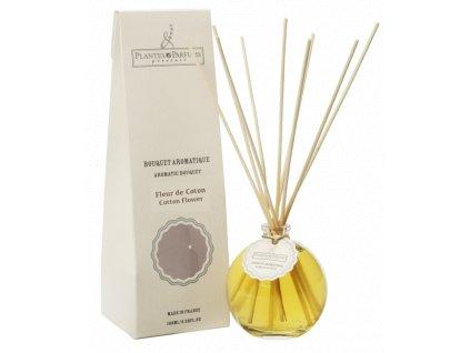 Plantes & Parfums Interiérový parfum difuzér Kvety bavlny 100ml