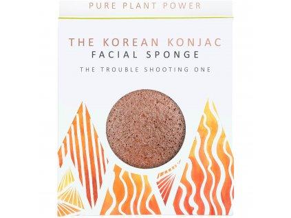 The Konjac Sponge Company Element oheň s vulkanickým prachem 1ks
