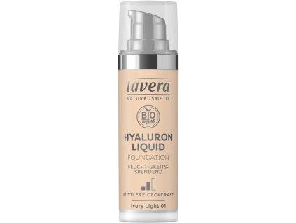 Lavera Lehký tekutý make-up s kyselinou hyaluronovou 01 porcelánová 30 ml