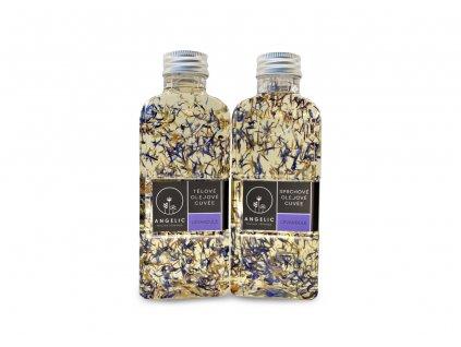 Angelic Výhodný levandulový set Tělové olejové Cuvée Levandule 200ml a Sprchové olejové Cuvée Levandule 200ml