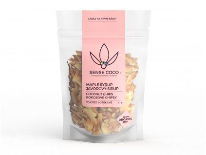 SENSE COCO kokosové chipsy s javorovým sirupom Bio 40g