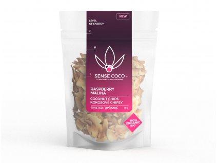 SENSE COCO kokosové chipsy malinové BIO 40g