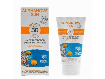 Alphanova SUN Opalovací krém na obličej hypoalergenní SPF 30 50g BIO
