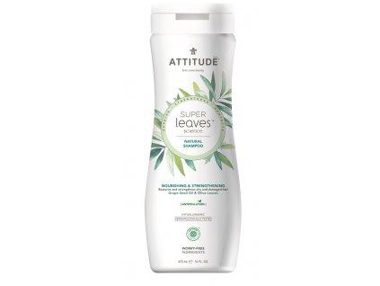 Attitude Super leaves Přírodní šampón s detoxikačním účinkem - vyživující pro suché a poškozené vlasy 473 ml
