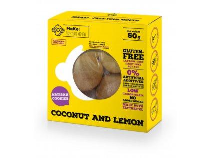 Make! Kokosovo-citrónové bezlepkové sušienky 50g