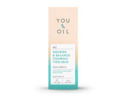 You & Oil Pleťový krém pre mastnú a zmiešanú pleť 30ml