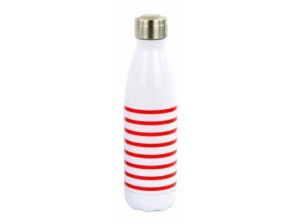 Yoko Design termolahev 500 ml pruhovaná červená