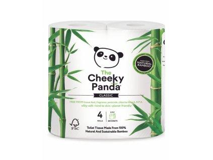 The Cheeky Panda Toaletní papír 3-vrstvý 200 útržků 4 role