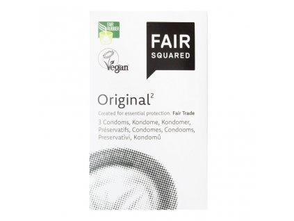 Fair Squared Kondom z přírodního latexu Original 3 ks