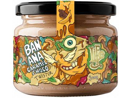 LifeLike Banana Caramel Choco Twister 300 g