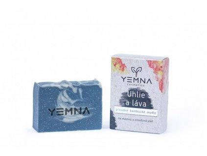 Yemna Přírodní mýdlo Uhlí a marocká láva 100 g
