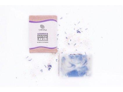 Yemna Přírodní mýdlo Levandulové s ovesným mlékem a vločkami 100 g