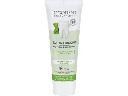 Logona Extra fresh daily care zubní krém Bio Máta 75 ml
