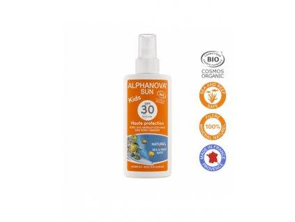 Alphanova SUN Opalovací krém ve spreji pro děti SPF 30 125g BIO