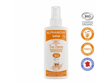 Alphanova SUN Opalovací mléko pro miminka SPF 50 125 ml BIO