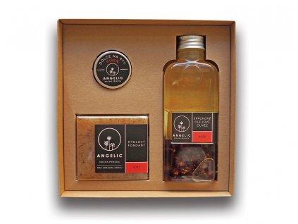 Dárková krabička Angelic Sprchové olejové Cuvée Růže