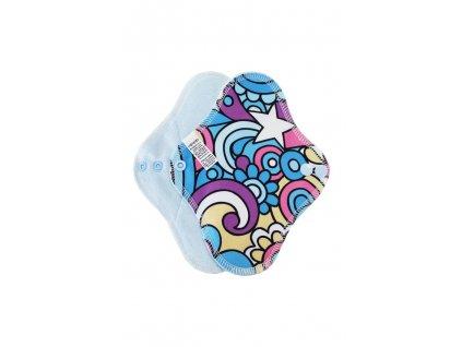 Breberky Slipová vložka s PUL - Hippie na modré