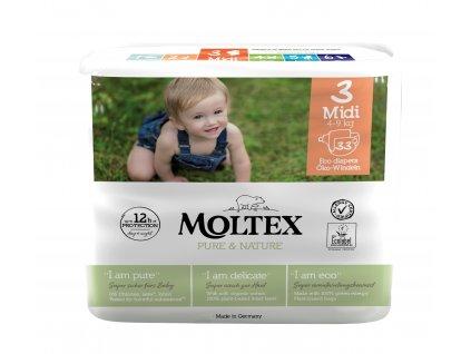 Moltex Pure & Nature Dětské pleny Midi 4-9 kg 33 ks