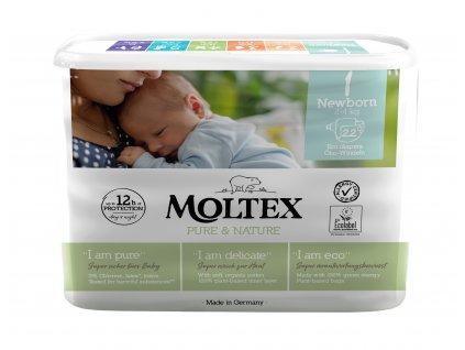 Moltex Pure & Nature Dětské pleny Newborn 2-4 kg 22 ks