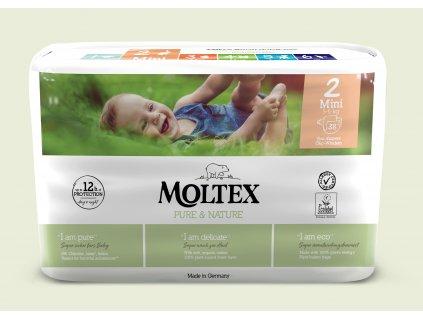 Moltex Pure & Nature Dětské pleny Mini 3-6 kg 38 ks