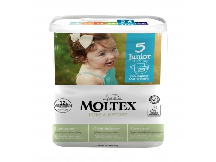 Moltex Pure & Nature Dětské pleny Junior 11-25 kg 25 ks