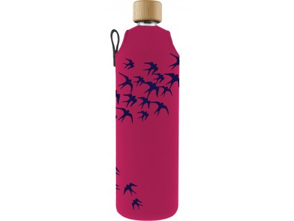 Drinkit Skleněná láhev s neoprénovým obalem Vlaštovky 700 ml