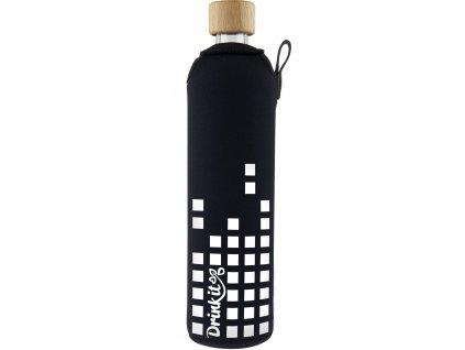 Drinkit Skleněná láhev s neoprénovým obalem Equalizer 500 ml
