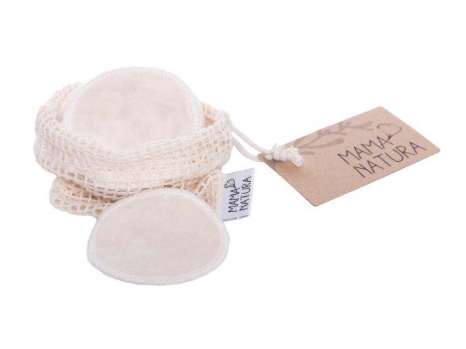 Mama Natura Kosmetický tampon pratelný z bambusu a biobavlny 6ks
