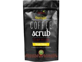 Vivaco Coffee scrub Telový kávový peeling Svieži citrus 220 g