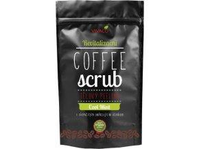 Vivaco Coffee scrub Telový kávový peeling Chladivá mäta 220 g