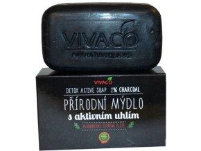 Vivaco Prírodné mydlo s aktívnym uhlím 100 g