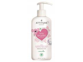 Attitude Baby Leaves Detské telové mydlo šampón a kondicionér 2v1 bez vône 473 ml
