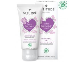 Attitude Baby Leaves Zinkový krém na zapareniny bez vône 75 ml