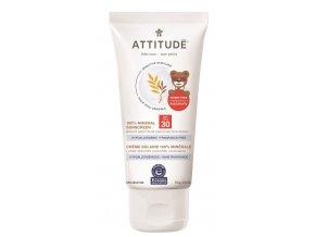 Attitude Detský 100% minerálna opaľovací krém SPF 30 pre citlivú a atopickú pokožku bez vône 75 g