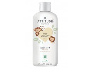 Attitude Baby Leaves Dětská pěna do koupele s vůní hruškové šťávy 473 ml