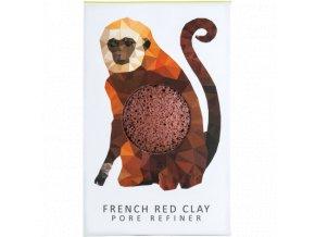 The Konjac Sponge Company Mini Opice červený jíl 1ks