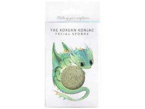 The Konjac Sponge Company Drak so zeleným ílom a vešiačikom - Mýtické bytosti 1ks