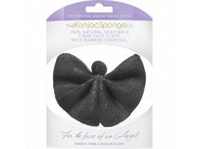 The Konjac Sponge Company Pleťová žinku Konjac s aktívnym uhlím 1ks