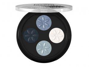 Lavera Minerální oční stíny Quattro 07 Modrá platina 3,2g