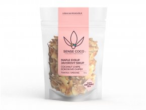 SENSE COCO kokosové chipsy s javorovým sirupem Bio 40g