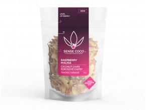SENSE COCO kokosové čipsy malinové Bio 40g