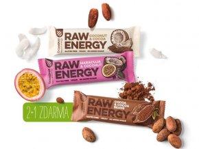Bombus 2 + 1 zdarma za akčnú cenu - Raw energy tyčinky