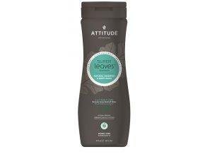 Attitude Super leaves Přírodní šampon & tělové mýdlo 2in1 pro muže s detoxikačním účinkem -proti lupům 473 ml