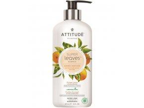 Attitude Super leaves Přírodní mýdlo na ruce s detoxikačním účinkem - pomerančové listy 473 ml