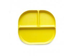 Ekobo Detský tácku s priehradkami Lemon