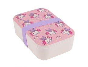 Portobello By Inspire Bambusový svačinový box Unicorns