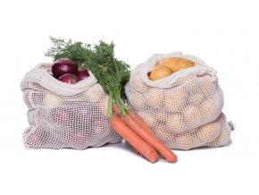Casa Organica Sieťový sáčok na potraviny z biobavlny - stredná 1 ks