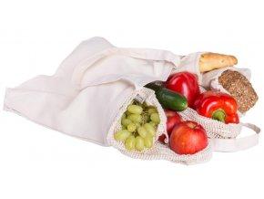 Casa Organica Nákupný sada z biobavlny 4 typy sáčkov a nákupná taška